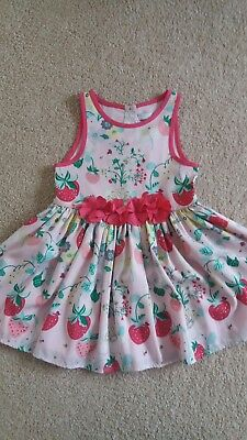 Marks and Spencer Girks Pink Dress Age 1.5-2 years