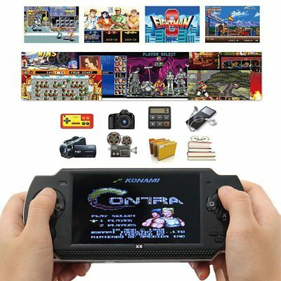 "2019 4.3"" X6 Handheld Video Game Console 32 Bit Built-in 1000 Free Retro Games"