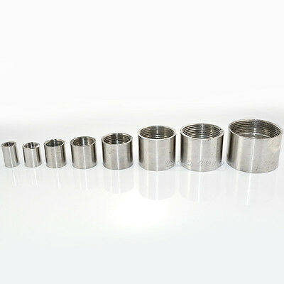 """1PC 1/2"""" Female x Female Threaded Pipe Fitting Stainless Steel SS 304 BSPT INTER"""