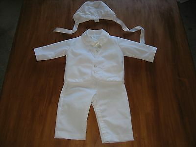 toddler infant boy alexis 4 piece christening suit size 6 months 13-16 pounds