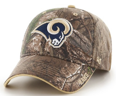5bcaa523f9d New St Louis Rams 47 Clean Up Baseball cap Hat Adjustable Camo RealTree  Frost