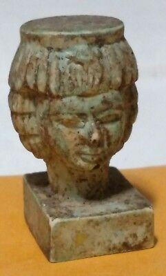 Egyptian Statue, Queen Cleopatra Hand Carved Natural Stone