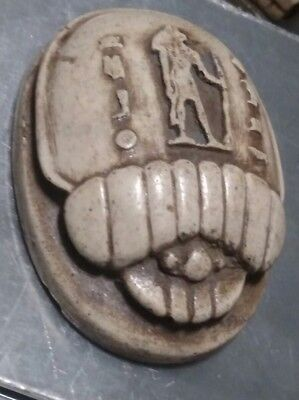 Egyptian Statue, Beetle Scarab 65 mm Natural Carved Stone,