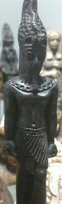 Egyptian Statue, King Tutankhamen, Hand Carved Natural Basalt Stone, 165mm