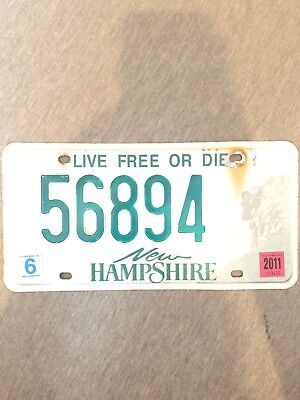 New Hampshire 2010 5-DIGIT License Plate #20