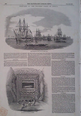 1850 Print Sketches On The Western Coast Of Africa