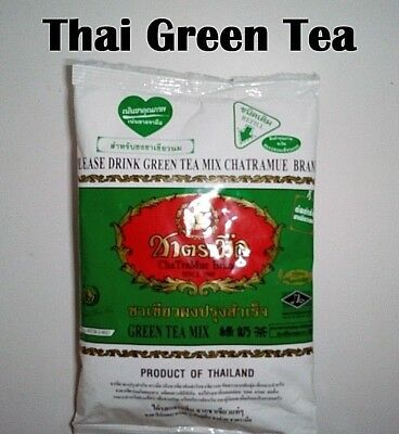 Thai Milk Green Tea Mix Chatramue Brand Thai Iced Tea With Free Strainer