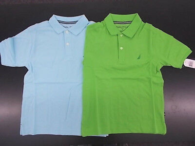 Boys Nautica $29.50 Curacao or Leaf Polo Shirts Size 8 - 18/20