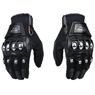 Steel Outdoor Reinforced Brass Knuckle Motorcycle Textile Safety Glove Gloves