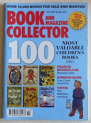 BOOK & MAGAZINE COLLECTOR #283 - 7/2007 - Tintin, Gordon Burn