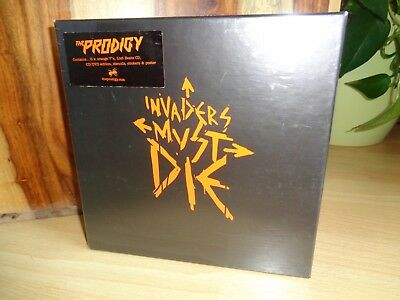 """5x7"""" LP & CD's - THE PRODIGY - INVADERS MUST DIE - Limited Box - HOSPBOX001"""