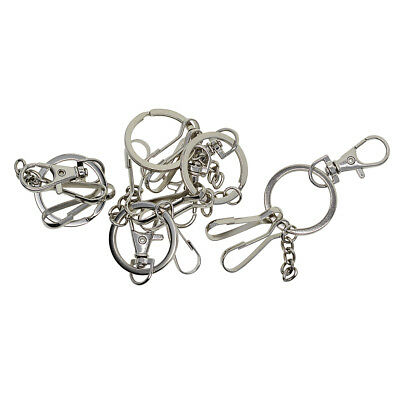 5pcs Alloy Silver Swivel Snap Lanyard Hook Lobster Clasp Clips for Key Chain