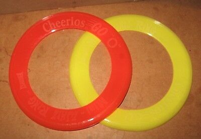 2 Vintage 60s 70s CHEERIOS Premium North Pacific Mini Whiz Ring Flying Disc