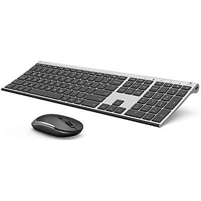 Wireless Keyboards Keyboard And Mouse, 2.4GHz Rechargeable Compact Whisper Quiet