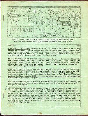 "1954 Camp Miniwanca Newsletter ""the Trail"" Shelby, Michigan *8 Pages *original"