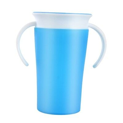Munchkin Baby Toddler Trainer Drinking Cup Kid 360°Sippy Cup Anti Spill Blue
