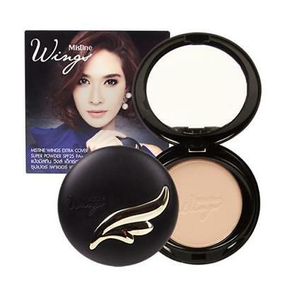 10 g. Mistine Wings Powder Foundation Extra Cover Super Face Makeup SPF 25 PA ++
