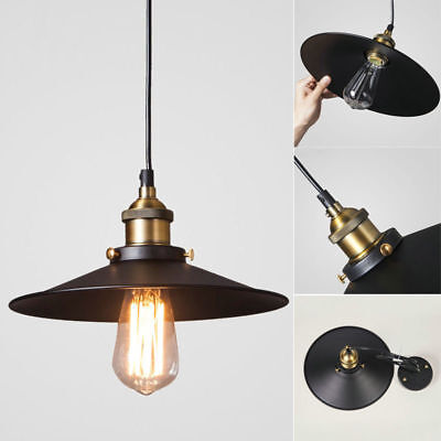 Industrial Iron Vintage Fixture Ceiling Lamp Pendant Light Loft Cafe Chandelier