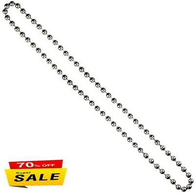 ROLLER / ROMAN BLIND METAL NICKEL BEADED CHAIN -4.5MM Continuous Endless