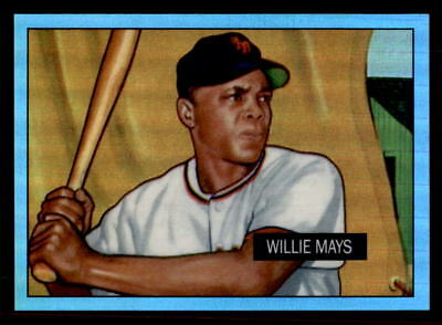 2013 Bowman Rookie Reprint Blue Sapphire Refractor Willie Mays 1951 (ref 33586)
