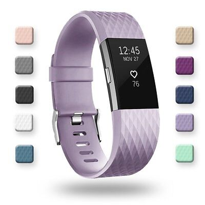 For Fitbit Charge 2 Replacement Wristband Wrist Strap Smart Watch Band Lavende