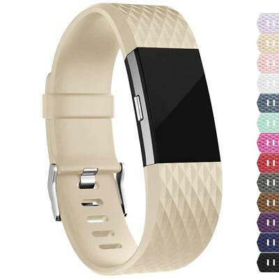 For Fitbit Charge 2 Replacement Wristband Wrist Strap Smart Watch Band Champagne