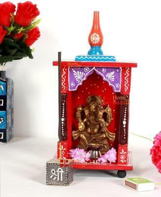 Home Mandir Pooja Ghar Mandapam for Worship Wooden Handcrafted Temple Hindu -072