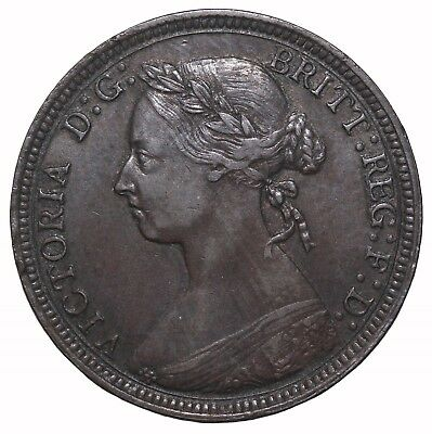 1891 Great Britain Half Penny KM#754 Queen Victoria Coin 1/2 Penny