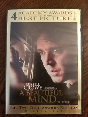 A Beautiful Mind Two Disc Awards Edition with Russell Crowe DVD Movie