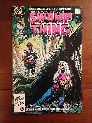Swamp Thing # 54 Vf/nm Alan Moore Steve Bissette Rick Veitch Dc Comics