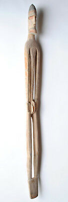 Artifact of Asmat Female Figure Standing with Joined Feet Papua New Guinea -L142