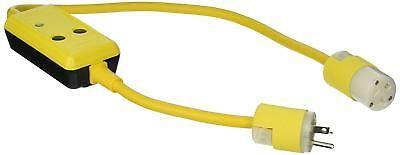 Hubbell ‑ GFP3C20M ‑ Line Cord GFCI, 20A, 120VAC, 3 ft, Yellow