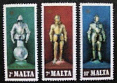 Suits of armour stamps,1977, Malta, SG ref: 572-574, 3 stamp set, MNH
