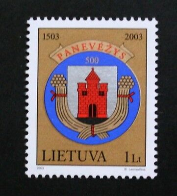 500th anniversary of Panevezys city stamp, 2003, Lithuania, SG ref: 817, MNH