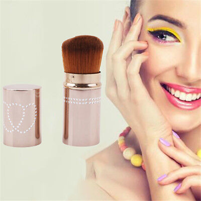 Telescopic Face Makeup Brush Blusher Foundation Powder Brushes Soft 2 Colors Pop