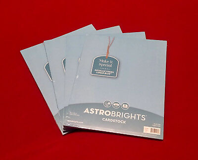 Astrobrights Cardstock 8.5x11 65 Lb-Lunar Blue Pearlescent 100 Pages
