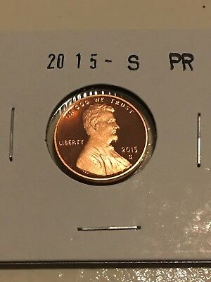 2015 S Gem Proof  Lincoln Shield Cent Penny