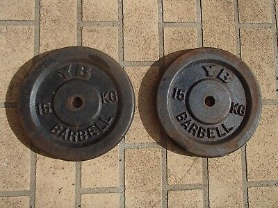Weights - 2 * 15kg - YB Barbell Brand