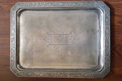 Antique Middletown Plate Co. Quadruple Plated Silver Tray