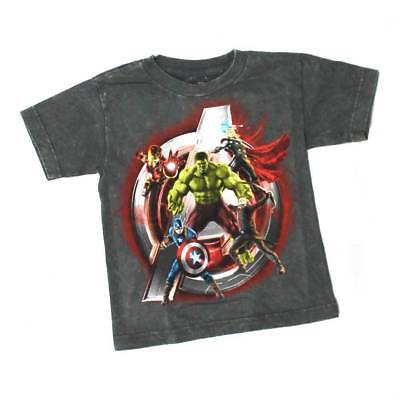 All Together Marvel Avengers group Youth Boys' Super Heroes gray T-Shirt
