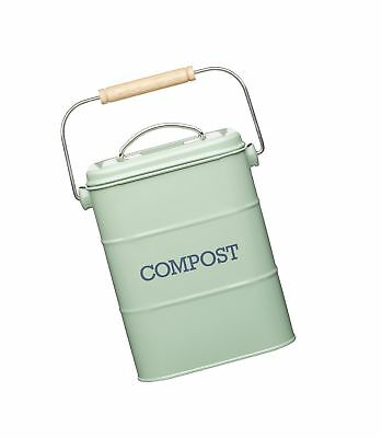 KitchenCraft Living Nostalgia Metal Kitchen Compost Bin, 16.5 x 12 x 24 cm (6...