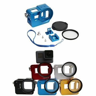 Aluminum Alloy Protective Cage Frame + 52mm UV Filter Cap for GoPro Hero 5 6 7