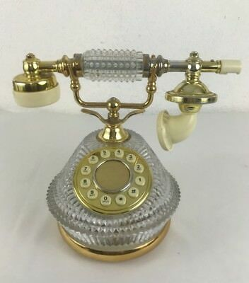 Crystal and brass VINTAGE FRENCH VICTORIAN STYLE push button phone. Fun.