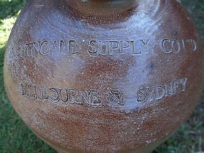 Bendigo Pottery Epsom Demijohn...nightingale Supply Co Ltd Melbourne & Sydney