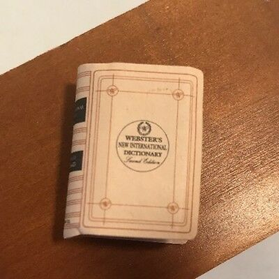 Dollhouse Miniature Decoration Wooden Webster's Dictionary Book 1:12 Scale