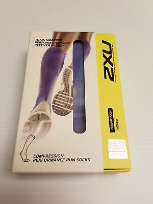 2XU Women's Performance Run Compression Socks Sz: XS Lavender WA2443e