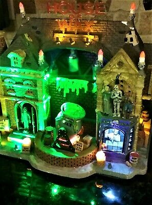 BRAND NEW in Box Lemax Spooky Town Collection House of Wax #95827 Halloween