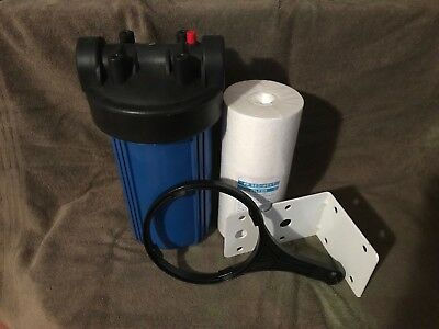 "Big Blue Whole House Water Filter System + Sediment Filter (4.5"" x 10"") 1"" Inlet"