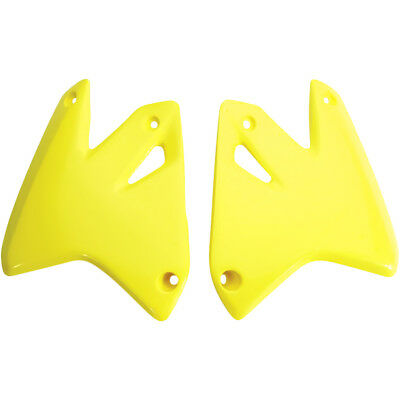 UFO NEW Mx Suzuki DRZ400 DRZ400E 2000-2017 Yellow Dirt Bike Radiator Shrouds