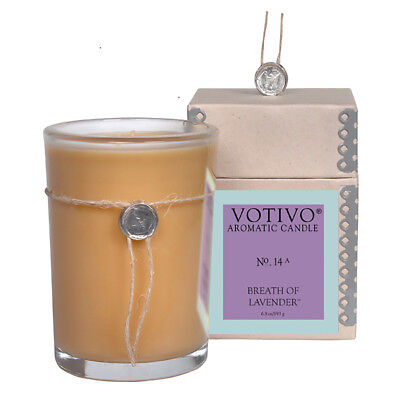 """NEW Votivo Aromatic Candle Breath of Lavender #14 """"Missing Box"""""""